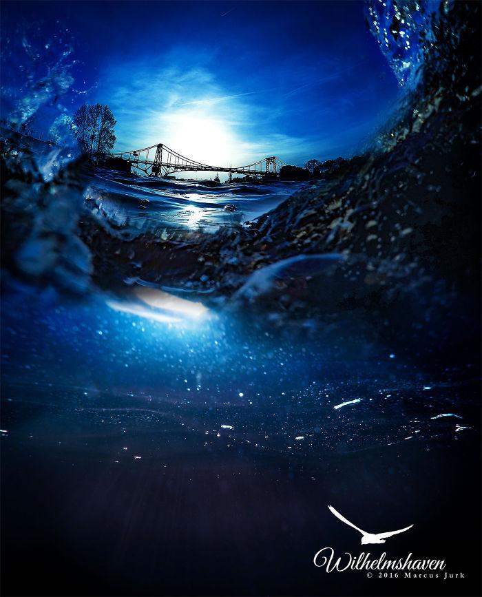 Waves Over Bridge