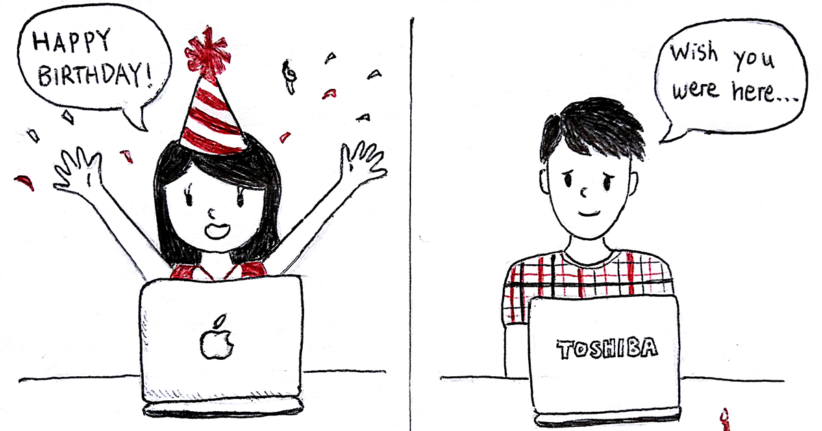 I Draw What It's Like To Be In A Long Distance Relationship