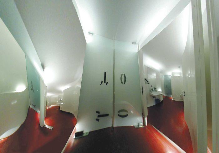Real Character Bathroom, Café Korb, Vienna, Austria