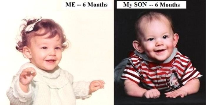 Me, At Six Months, In 1970; My Son At Six Months, In 2007. Freaky!!!