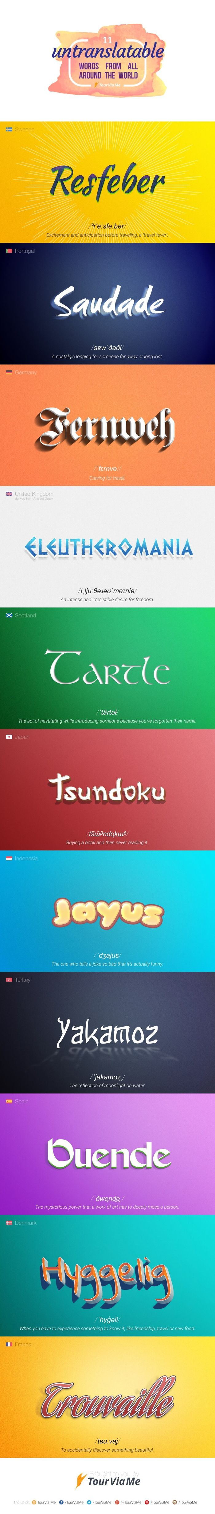 11 Untranslatable Words From All Around The World [infographic]