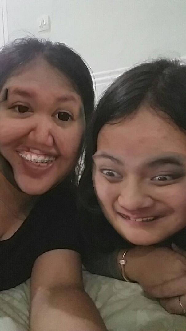 Damn. Completely Distorted, And I Looked Like Mr.bean...