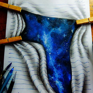 16-Year-Old Artist Creates 3D Doodles That Leap Off The Page