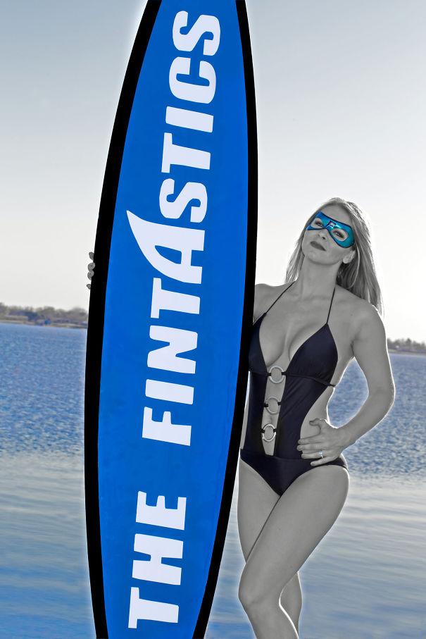 Fintastic Surfer Girl