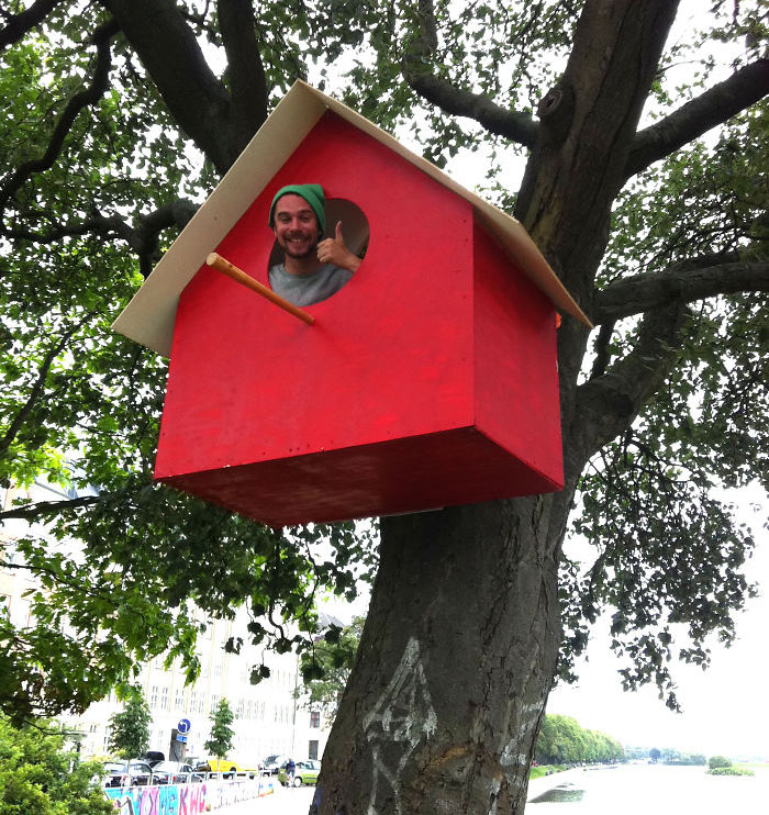 High Quality I Even Made A Big Birdhouse For Myself