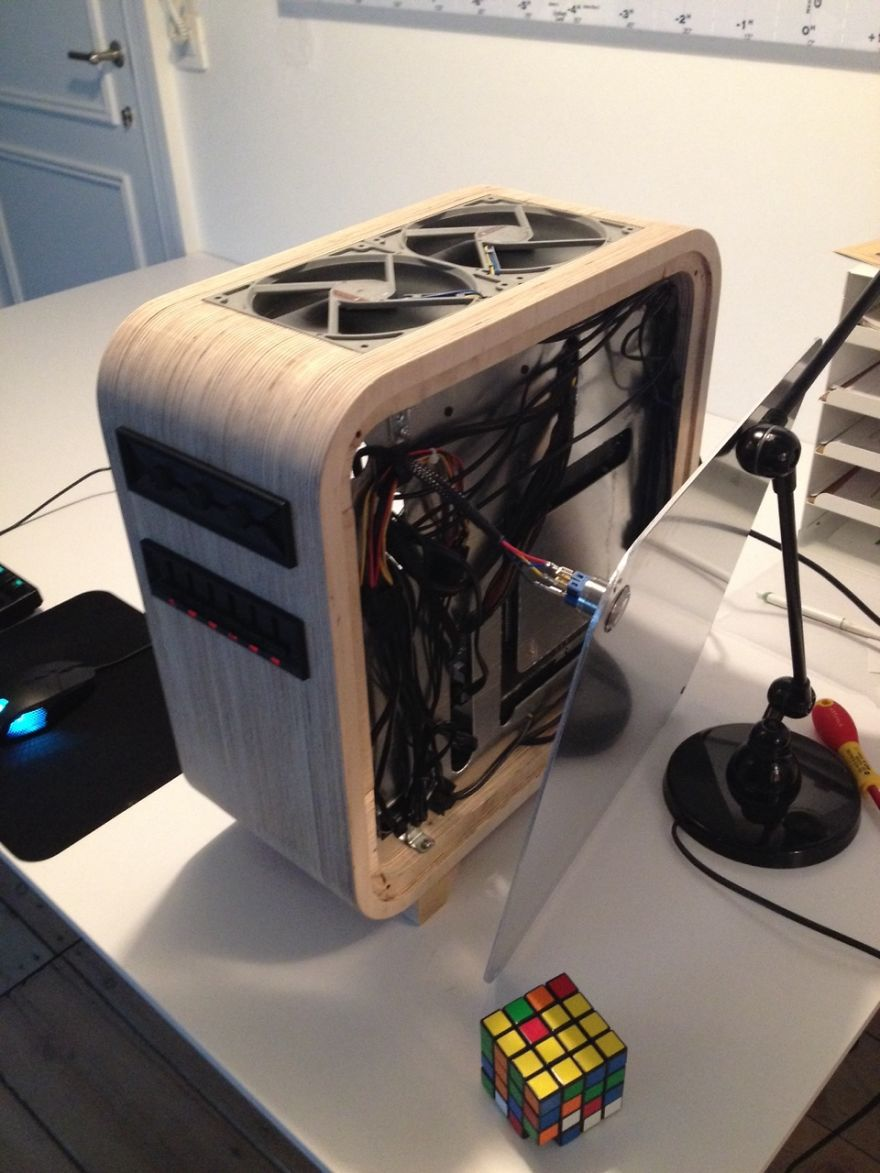 I Made A Computer Out Of Wood Bored Panda