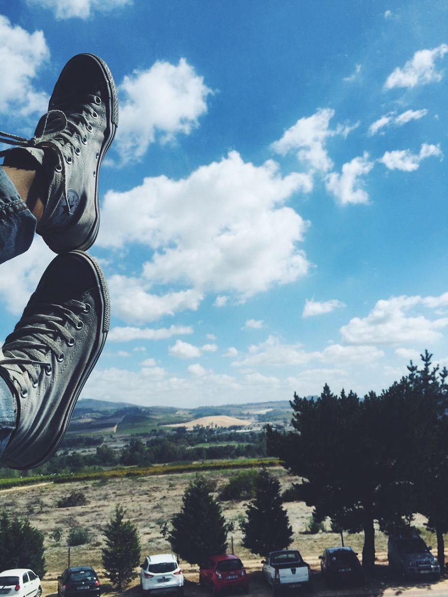 Office View (can Even Put My Feet Up Sometimes) Stellenbosch, South Africa.