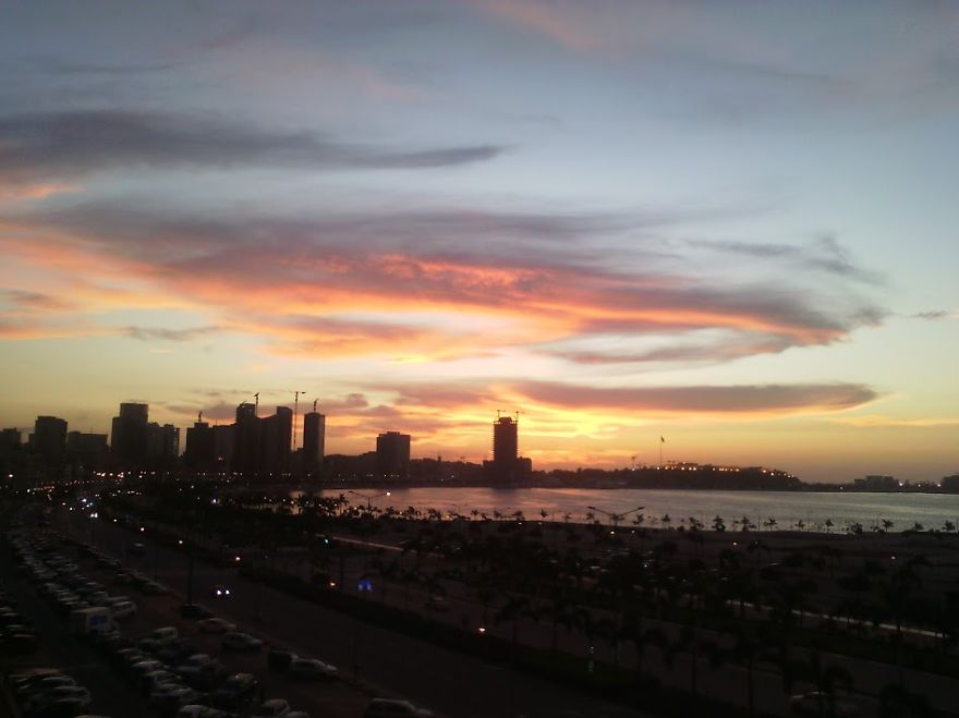 Magical Sunset From My Office. Luanda Bay (angola)