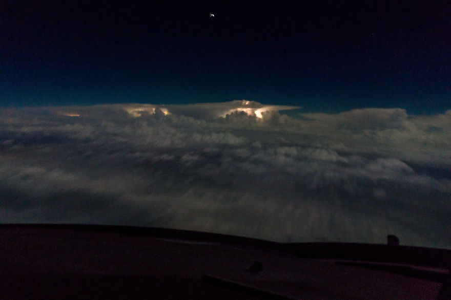 My Office View Always Changes - Boeing 747.  Christmas Morning 2015 Over Texas Usa 2am.
