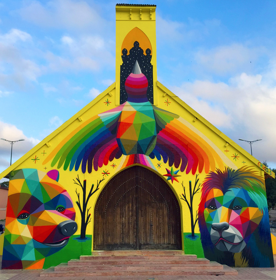 abandoned-church-painted-urban-street-art-okuda-san-miguel-morocco-14