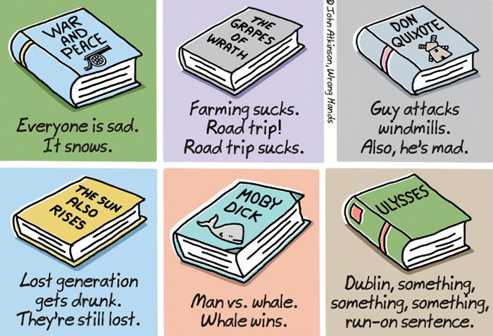Extremely Shortened Versions of Classic Books For Lazy People