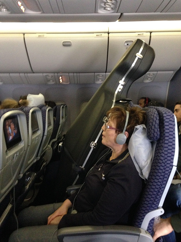 So The Guy In The Row Next To Me Purchased A Seat For His Cello