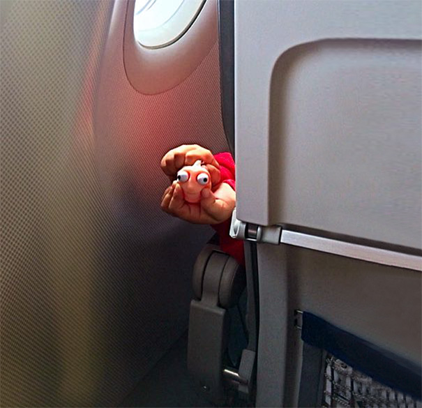 So Apparently There's A Little Kid In Front Of Us On This Flight
