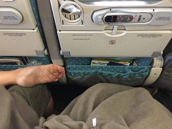 Socks On Airplanes. Please wear them