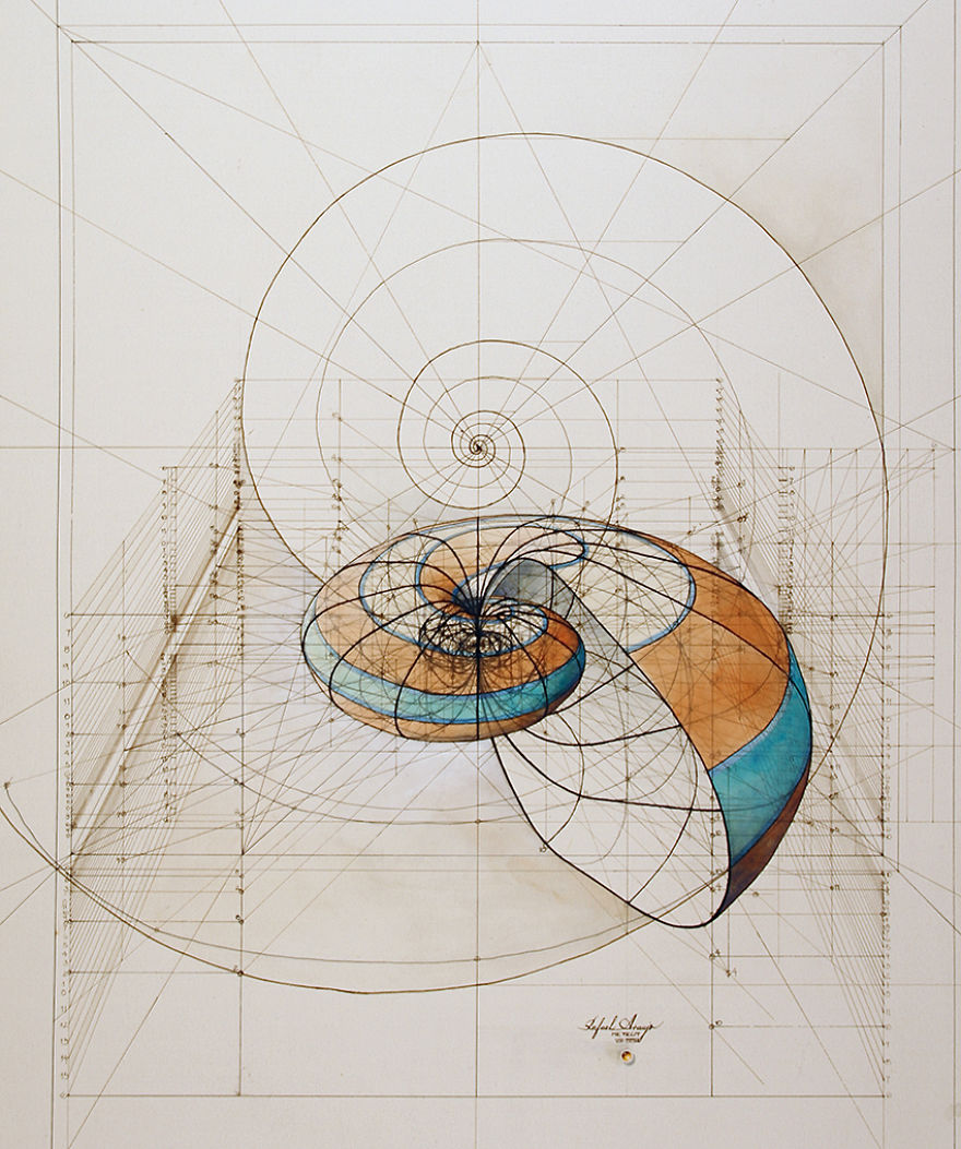 Hand drawn coloring book reveals mathematical beauty of for Architecture design drawing