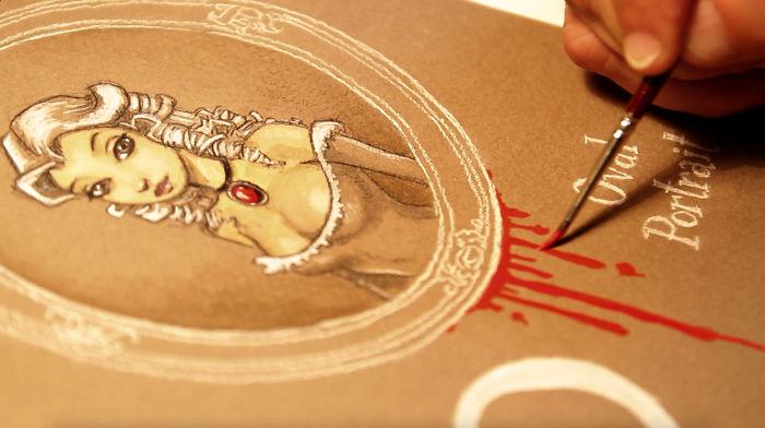 Artist Draws An Alphabet Inspired By Edgar Allan Poe