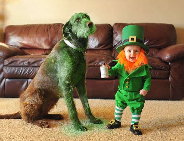 Dad Turns His 6-Month-Old Baby Into A Naughty Leprechaun For St. Patrick's Day