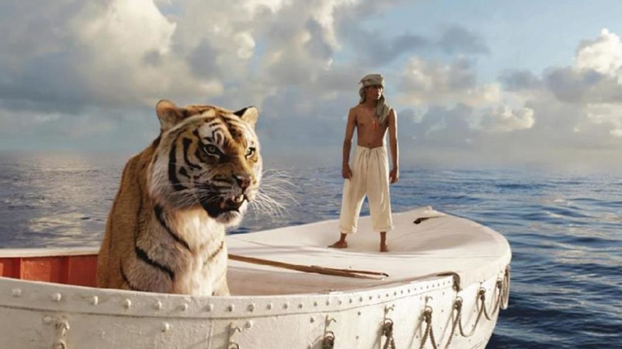 20 movie scenes before and after special effects bored for Life of pi cast