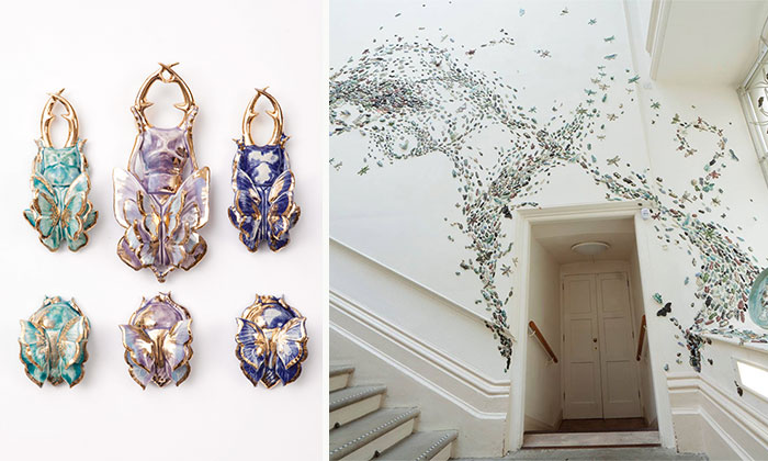 I Handmade 10,000 Ceramic Beetles To Crawl Across Gallery Walls