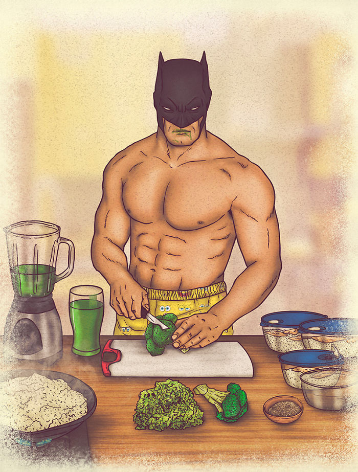 Colombian Artist Illustrates Private Lives Of Iconic Superheroes