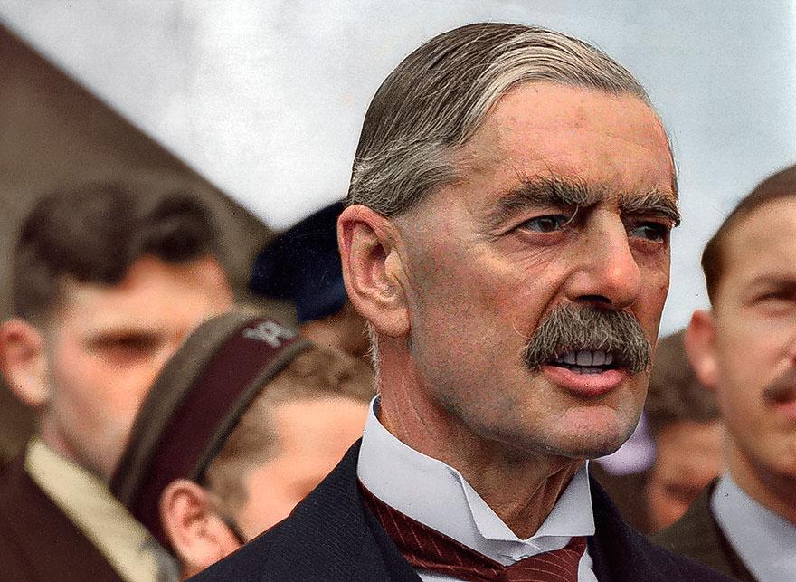 British Premier Sir Neville Chamberlain