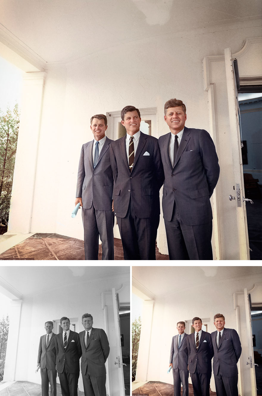 "Brothers Robert Kennedy, Edward ""ted"" Kennedy And John F. Kennedy"