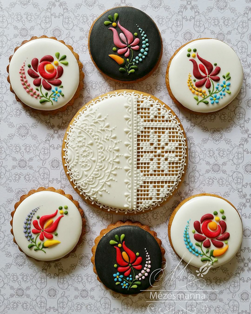 hungarian chef turns ordinary cookies into stunning embroidery