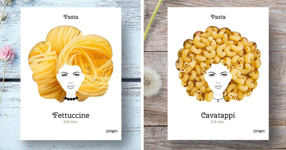 Creative Packaging Design Turns Pasta Into Hair Bored Panda