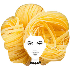 Creative Packaging Design Turns Pasta Into Hair