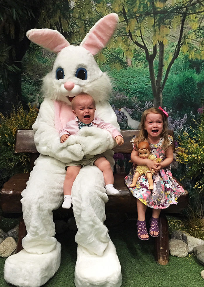 Easter Bunny Photo Fail