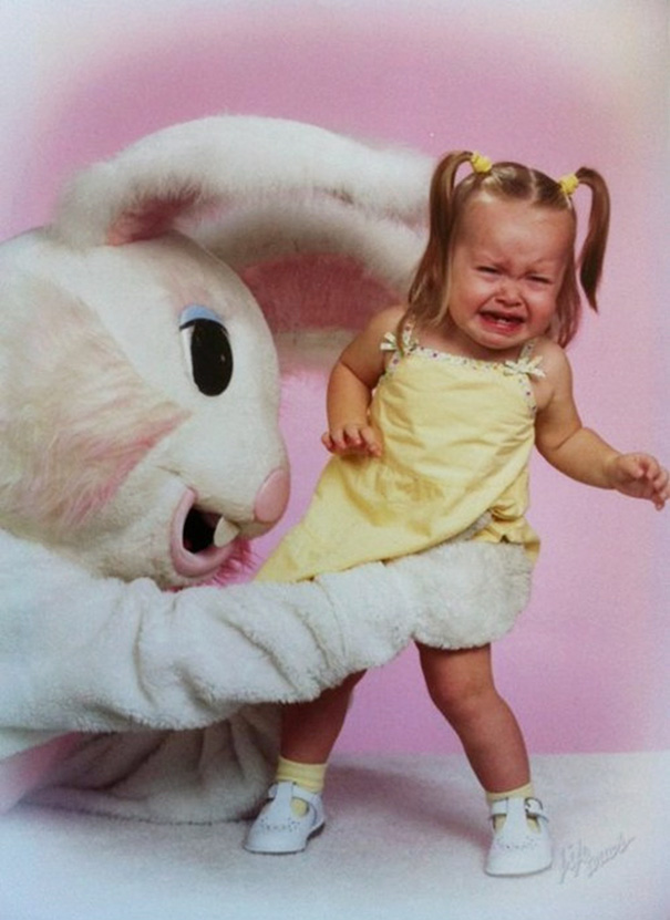 15+ Vintage Easter Bunny Pics That Will Give You Nightmares ...