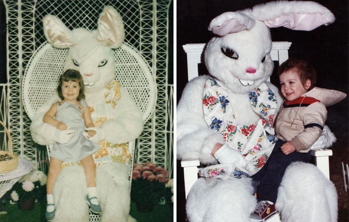 57 Vintage Easter Bunny Pics That Will Give You Nightmares