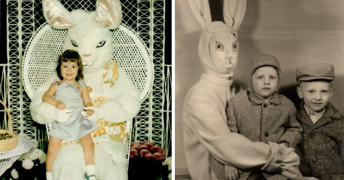 57 Vintage Easter Bunny Pics That Will Give You Nightmares Bored Panda