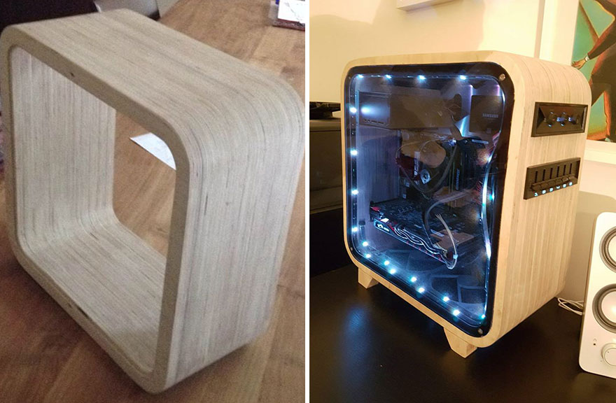 Made A Computer Out Of Wood | Bored Panda