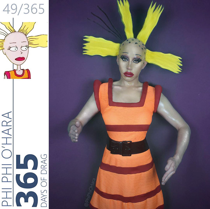 Drag Queen Turns Herself Into Our Favorite 90s Cartoon Characters Bored Panda