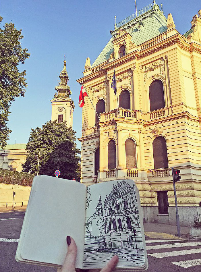 Drawing The Places I Visit Is My Reason To Travel Around