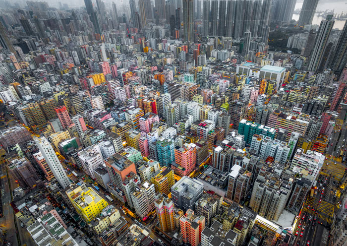 Drone Photos Reveal The Incredible Density Of High-Rises In Hong Kong