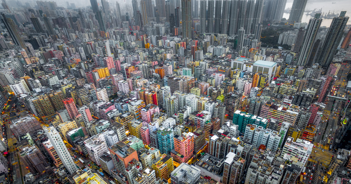 Drone Photos Reveal The Incredible Density Of High Rises In Hong Kong