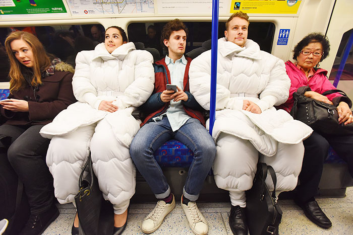 Duvet Suit For People Who Love To Sleep Anywhere, Anytime