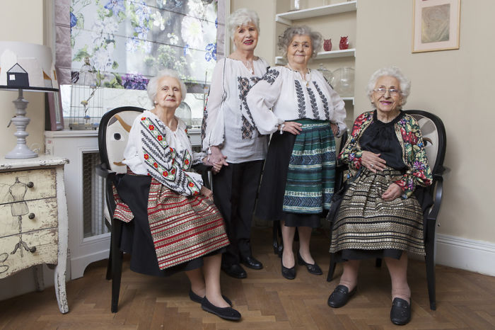 Elder Models Pose To Draw Attention To The Situation Of The Elderly In Romania