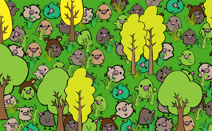 Can You Find The Little Pig Hidden In This Forest?