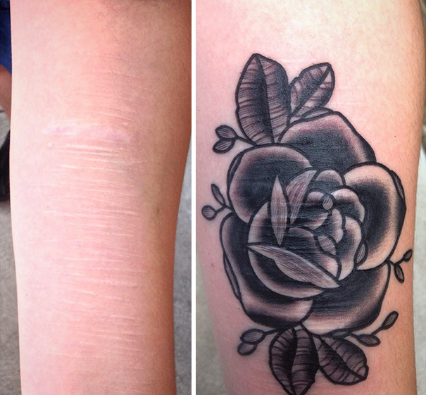 Tattoo artist does free tattoos for survivors of domestic for Tattoos over self harm scars pictures