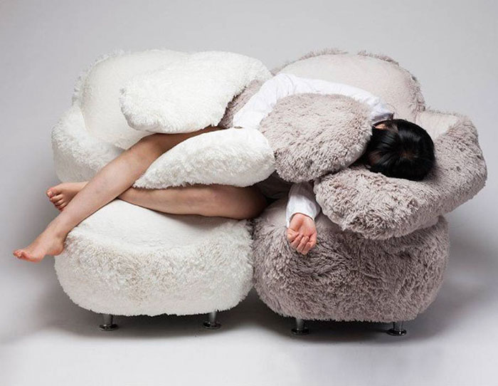 Hugging Sofa Means You'll Never Be Alone Again