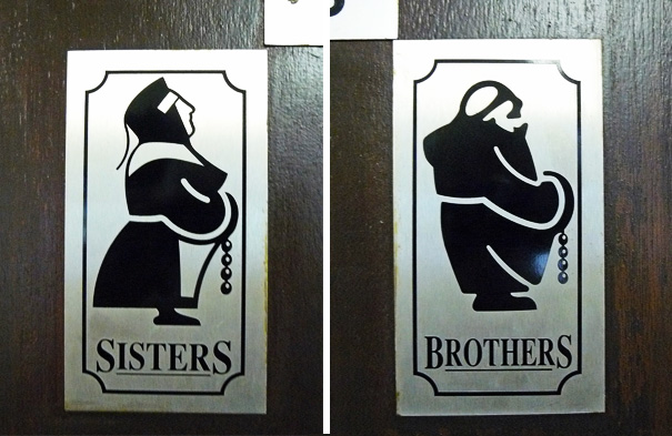 Toilet Sign At Holy Island