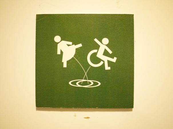 Restroom Sign At Rafla, Helsinki