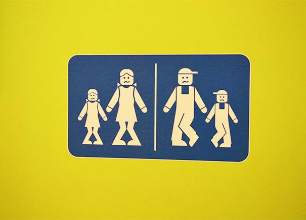 Bathroom Signs At Lego Land