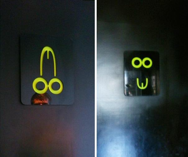 Bathroom Signs In Bali Hotel