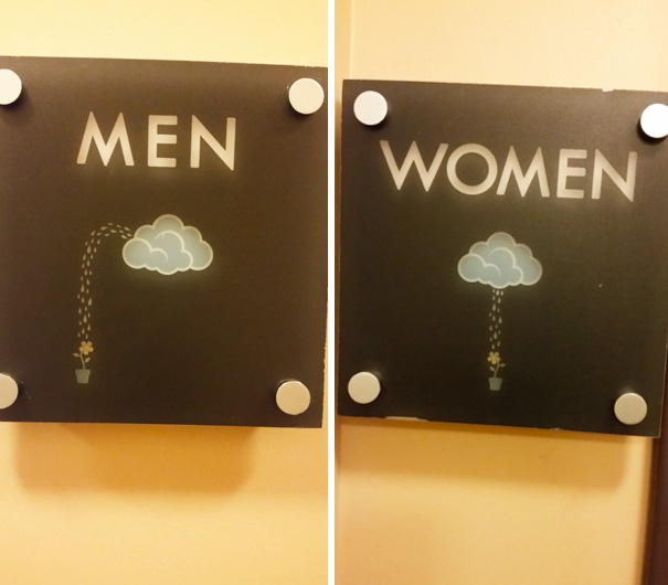 10+ Of The Most Creative Bathroom Signs Ever | Bored Panda
