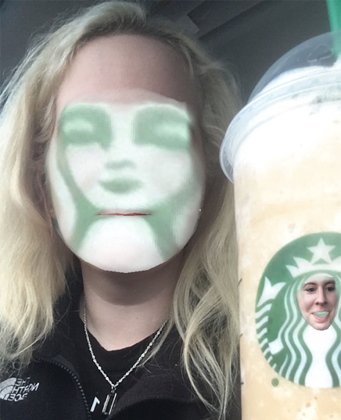 Face Swap With Starbucks Cup