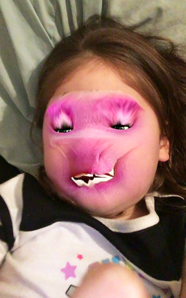 My Sister Wanted To Do Face Swap With Barney